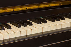 Vintage piano keyboard Stock Images