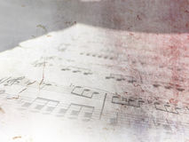 Vintage piano sheet music - grunge notes. Old music notes on vintage paper background Stock Photo