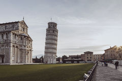 Vintage piazza dei miracoli view Royalty Free Stock Photography