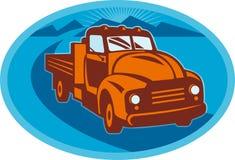Vintage pick-up cargo farm truck Stock Image