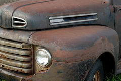 Vintage pick up truck. Side view of a rusted out vintage pick up truck Stock Image