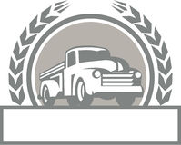 Vintage Pick Up Truck Circle Retro Royalty Free Stock Photography