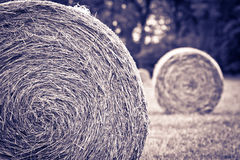 Vintage picture of bales Royalty Free Stock Photos