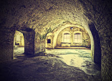 Vintage picture cellar in retro style. Royalty Free Stock Photography