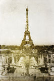 Vintage picture of the Eiffel Tower Stock Photo