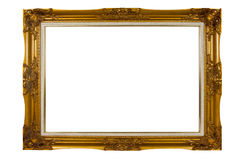Vintage picture frame. Blank vintage wooden picture frame Royalty Free Stock Photos