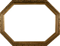 Vintage picture frame. On white background royalty free stock image
