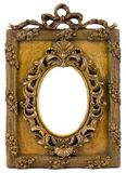 Vintage picture frame. On white background Royalty Free Stock Photography