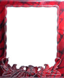 Vintage picture frame. Isolated on white background Stock Images