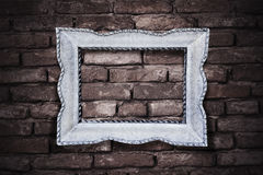 Vintage picture frame on brickwall background Royalty Free Stock Photos