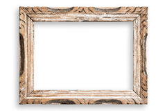 Vintage picture frame, clipping path. Royalty Free Stock Image