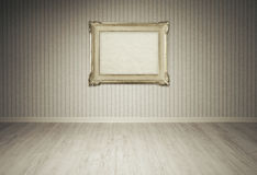 Vintage picture frame on a empty room Royalty Free Stock Images