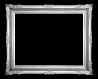 Vintage picture frame isolated on blck background Royalty Free Stock Photo