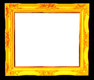 Vintage picture frame isolated Stock Photography