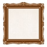 Vintage Picture Frame Isolated on White Background Royalty Free Stock Photos