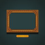 Vintage Picture Frame on the wall. Stock Photo