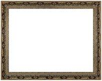 Vintage picture frame, white background Stock Photos