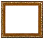 Vintage picture frame, white background Royalty Free Stock Photos