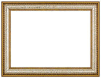 Vintage picture frame, white background Stock Photo