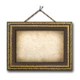 Vintage picture frame on the white isolated background Stock Image