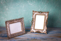 Vintage picture frame with white space Stock Photography