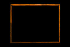Vintage picture frame, wood plated Royalty Free Stock Images