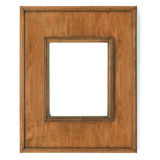 Vintage picture frame, wood plated Stock Images