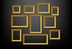 Vintage  picture frames Royalty Free Stock Photo