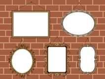 Vintage Picture Frames Vector Set Stock Image