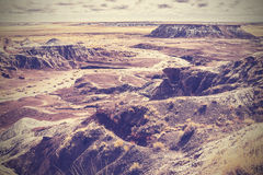 Vintage picture of Painted Desert, Petrified Forest National Par Royalty Free Stock Photography