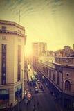 Vintage picture of Santiago de Chile downtown. Royalty Free Stock Photos