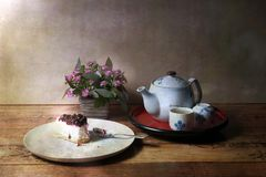 Vintage picture Tea time Royalty Free Stock Images