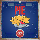 Vintage pie poster Royalty Free Stock Photography