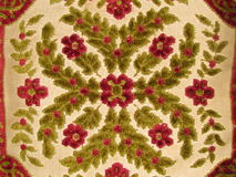 Vintage Pillow. A close-up of a vintage chenille pillow Stock Photography