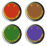 Vintage Pin Badge. S in a selection of colour variations Stock Photo