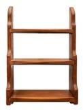 Vintage Pine Shelf Unit. Vintage pine wall shelf with three shelves for nicknacks or books Royalty Free Stock Images