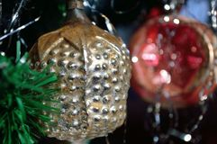 Vintage Pineapple Ornament glass royalty free stock image