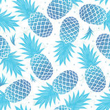 Vintage pineapple seamless vector illustration