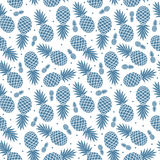 Vintage pineapple seamless Stock Photos