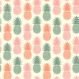 Vintage pineapple seamless Royalty Free Stock Photos