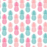 Vintage pineapple seamless Stock Photography