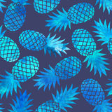Vintage pineapple seamless Stock Photo
