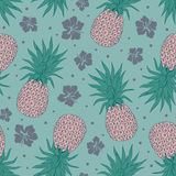Vintage pineapple seamless Stock Images