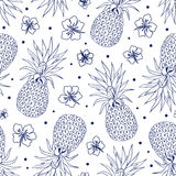 Vintage pineapple seamless Royalty Free Stock Photography
