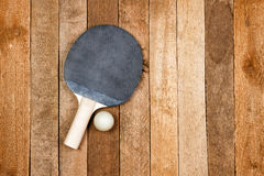 Vintage ping pong paddle Stock Photo
