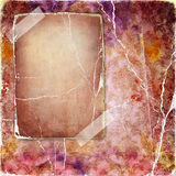 Vintage pink. Retro background with blank page Stock Images