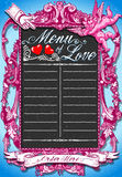 Vintage Pink Blackboard for Valentine 's Menu Royalty Free Stock Photo
