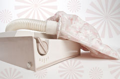 Vintage Pink Bonnet Hair Dryer Stock Photos