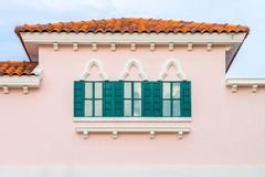 The vintage pink building Royalty Free Stock Photo