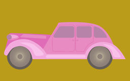 Vintage pink car. Royalty Free Stock Photography